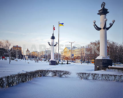 Zaporizhia. Downtown