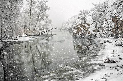 Zaporizhia. It's snowing