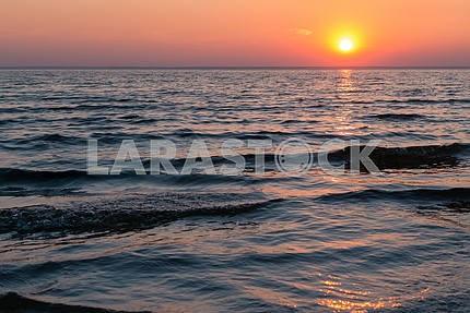 sea sunset. Calm