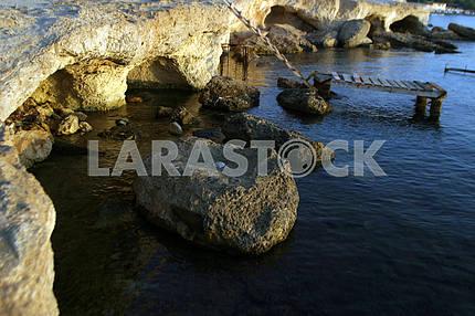 Rocks near the water
