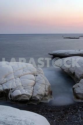 Sea shore. Sunset