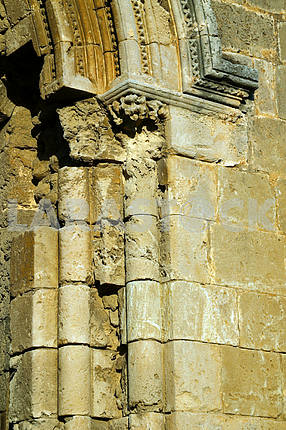 Fragment ruined church in Famagustre. Cyprus
