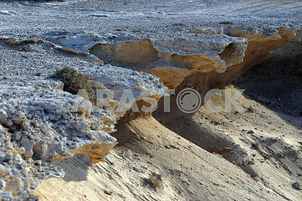 Rocks and sand.