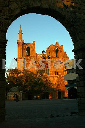 The destroyed church in Famagustre. Cyprus.