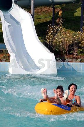 In aquapark
