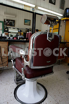 The chair in the barbershop. Cyprus