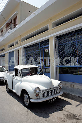 Old pickup truck on the street in Cyprus