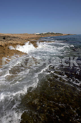 The coast of Paphos. Cyprus