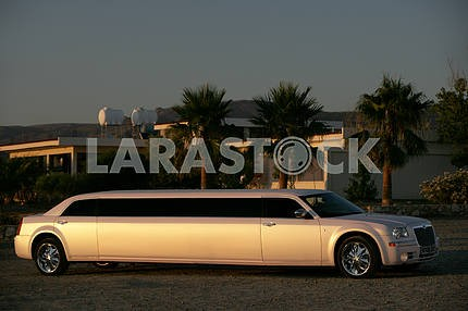 Limousine chrysler on the streets of Cyprus