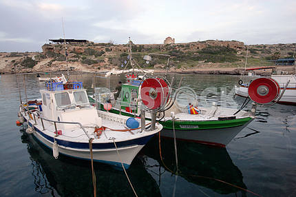 Fishing boats in Cyprus