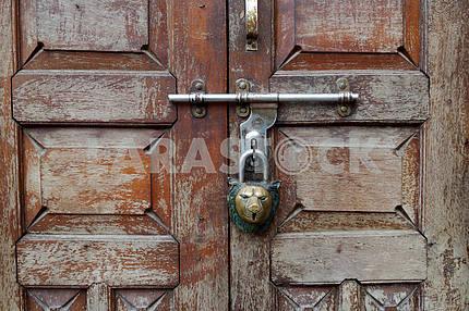 Door with padlock