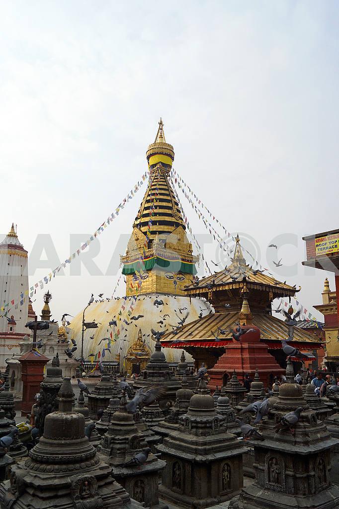 Stupa Svayambunah . — Image 20420