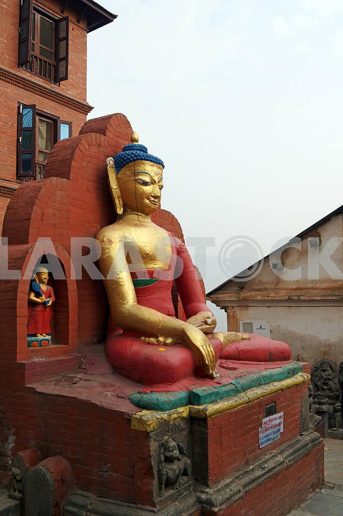 """Sitting Buddha """"Monkey Hill"""" Nepal, Kathmandu — Image 20421"""