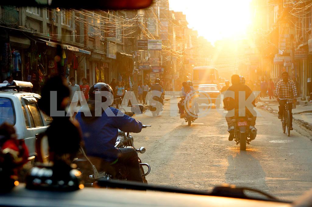 Nepal . A street in Kathmandu. — Image 20490