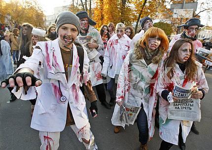 Zombie Parade In Kiev