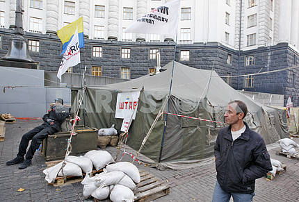 The tent city of Tariff Maidan in Kiev.
