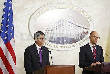 US Treasury Secretary Jack Lew in Kiev