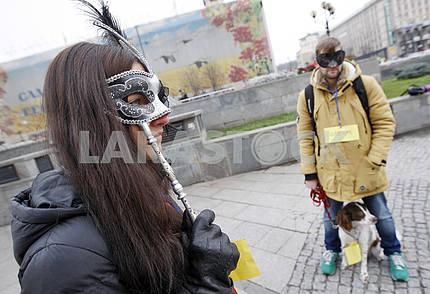 A flashmob against corruption, in Kiev