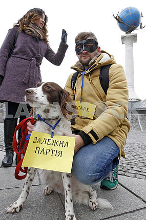 A flashmob against corruption, in Kiev