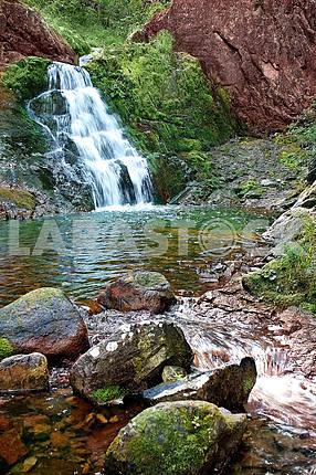 Waterfall on the river Amgu