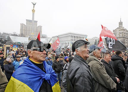 The Popular Assambly at the Independence Square in Kiev.