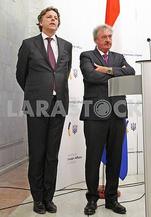Пресс-конференция министров иностранных дел Украины, Бельгии, Нидерландов и Люксембурга в Киеве.
