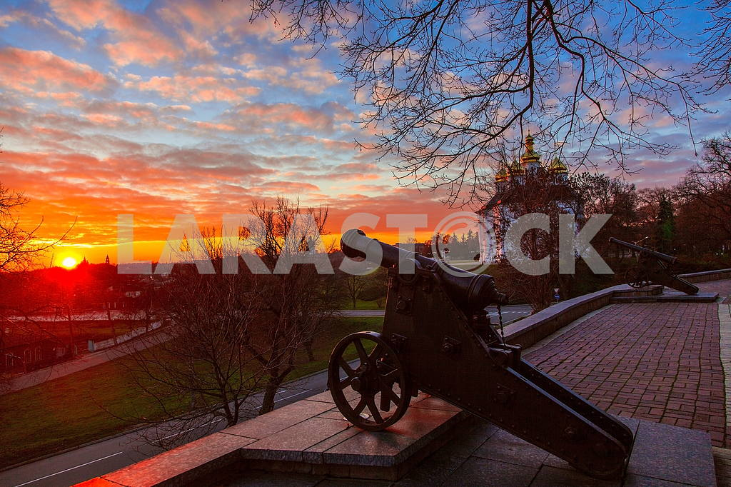 Sunset on the ramparts of Chernigov — Image 21311