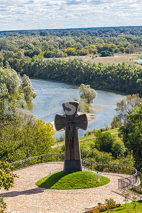 Cross in memory of the victims Baturin