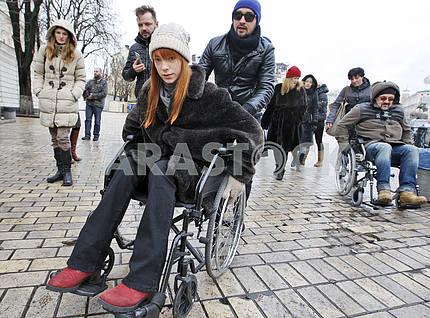 Акция к Дню инвалидов в Киеве
