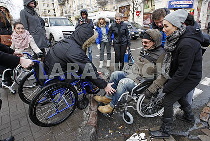 campaign for the Day of Persons with Disabilities, in Kiev