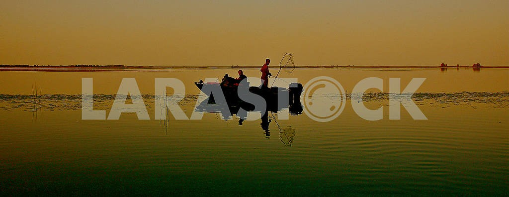Evening fishing on the Dnieper.