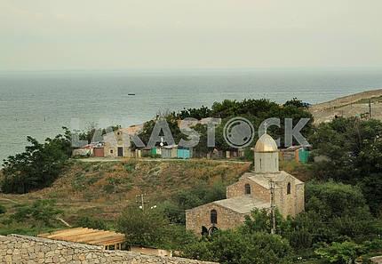 Вид со стены Генуэзской крепости на море. Феодосия