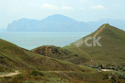 View of the mountains and the sea