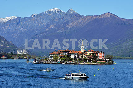 ISOLA PESCATORI-ITALY 25 APRIL 2013: fishing village Isola dei P