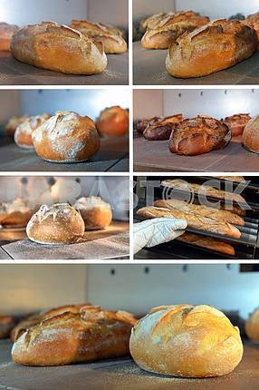 Буханка хлеба , испеченный в печи