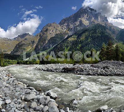 Mountain landscape Svaneti