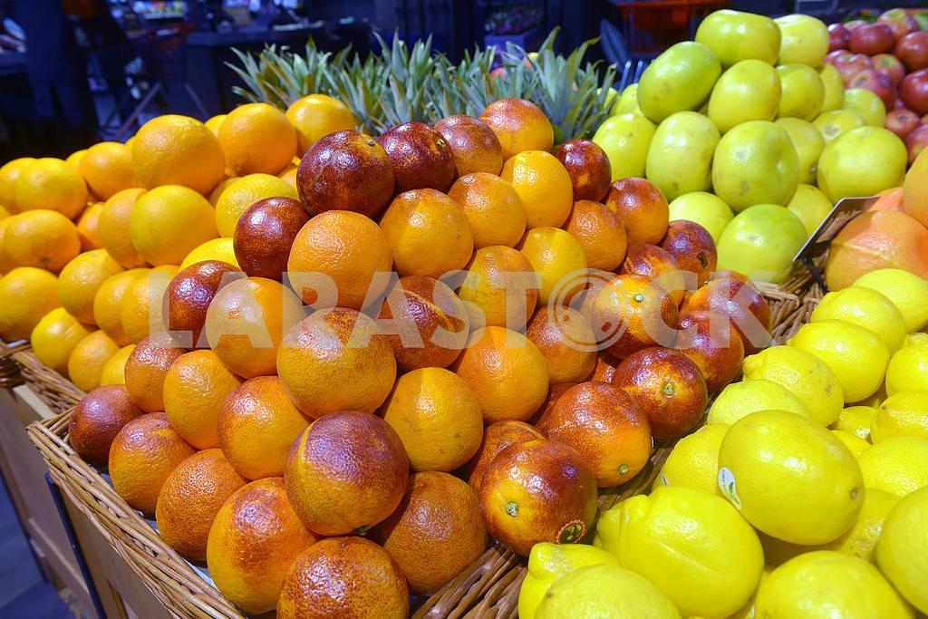Sicilian red oranges on display — Image 21706