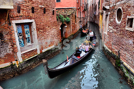 2013, may, 02, Italy, Venezia, Gondolas on canal in Venice, 2013