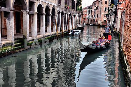 2013, may, 02, Italy, Venezia, Gondolas on canal in Venice, 2013