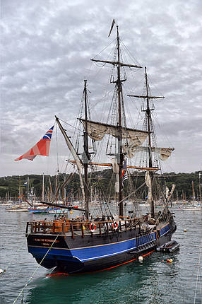 FRANCE. DOUARNENEZ-JULY-20, 2012: festival of sailing in the por