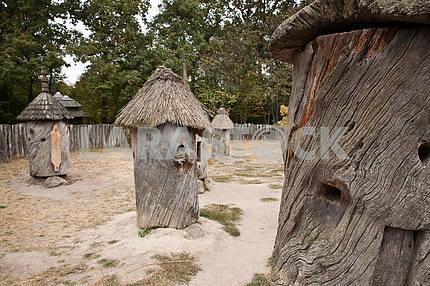Hive of oak barrels