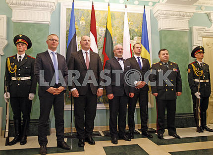 Press Conference of Defence Ministers of Ukraine,Lithuania, Latvia, Estonia and Poland.