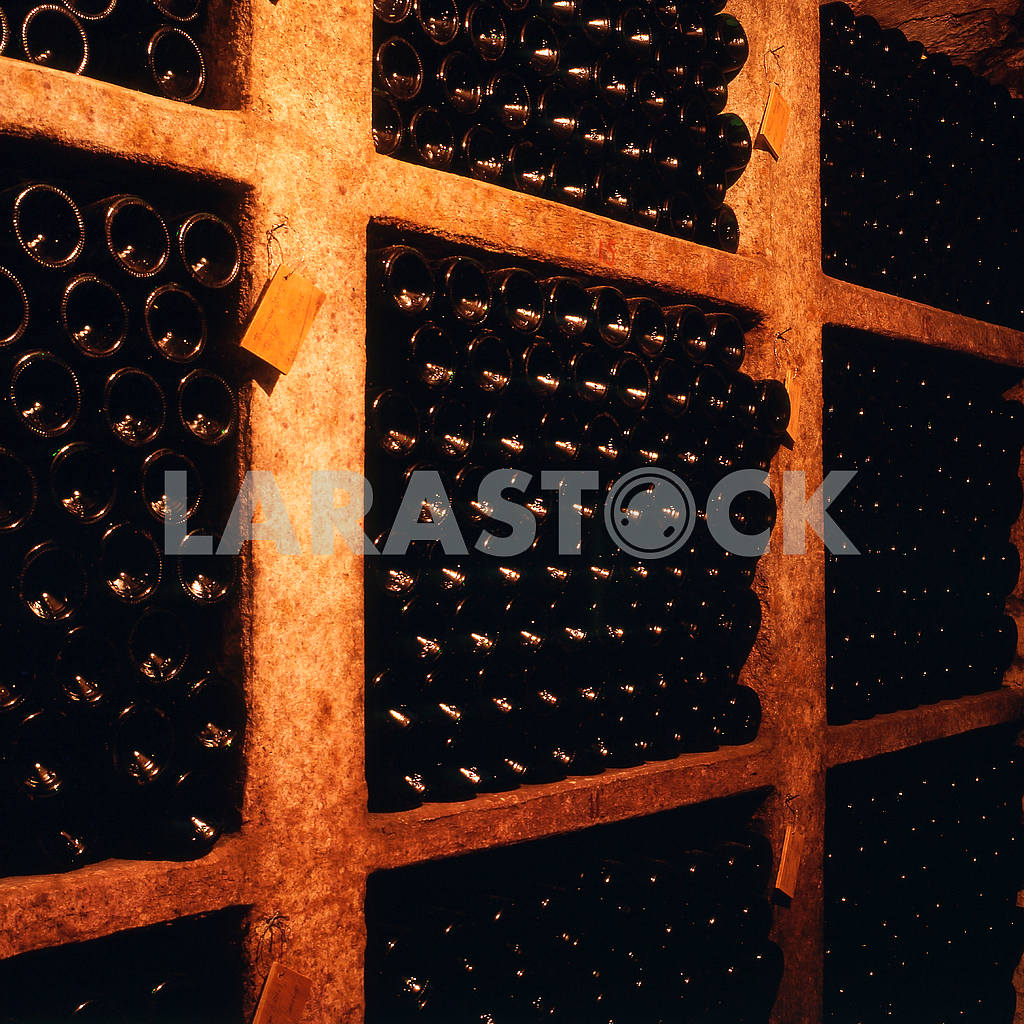 Bottles of wine matured in the cellar — Image 21981