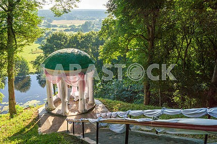Gazebo overlooking the River of Snov