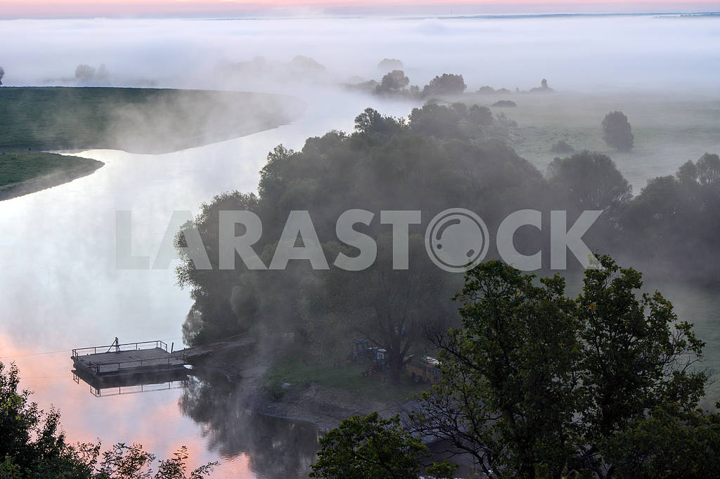 Desna River in the fog — Image 22038