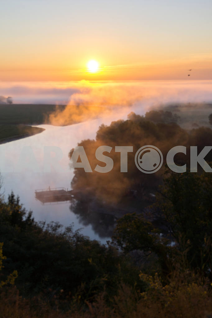 Fog over the Desna. Mezin. Chernihiv region — Image 22043