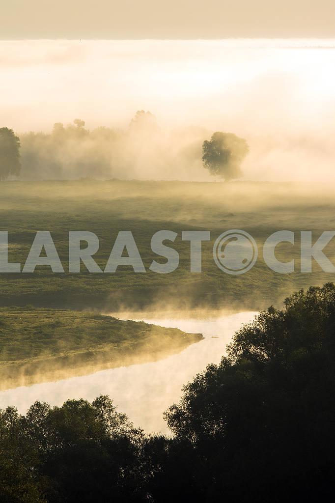 Desna River in the fog. Mezin. Chernihiv region — Image 22067