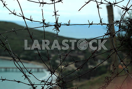 Abandoned military base in Ordzhonikidze, Crimea