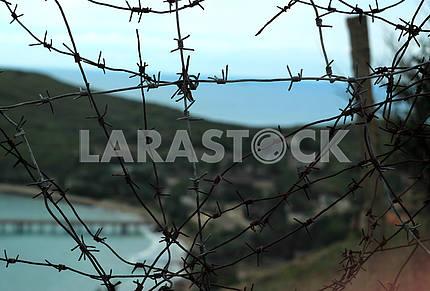 Abandoned military base in Ordzhonikidze, Crimea