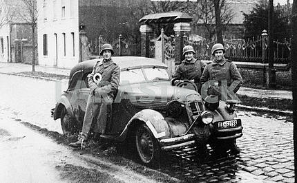 German patrol in the city